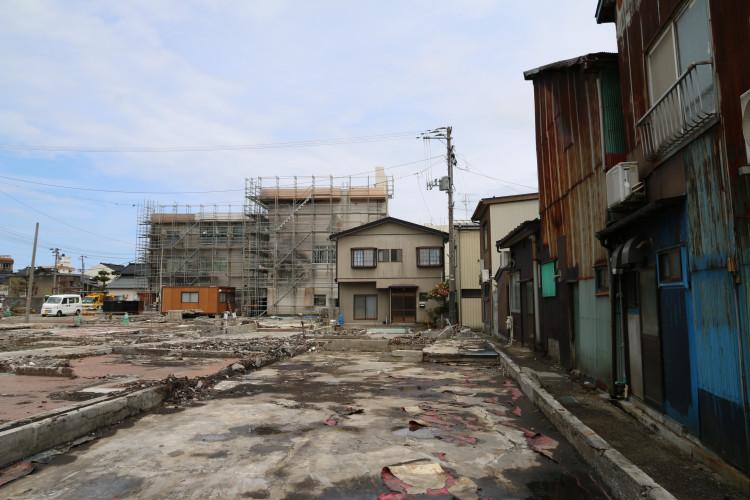 糸魚川市大火災後の様子