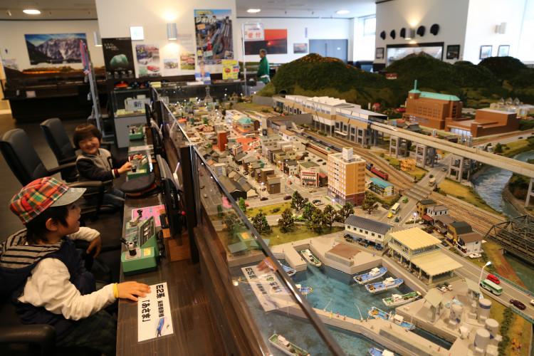 糸魚川市街地のジオラマ